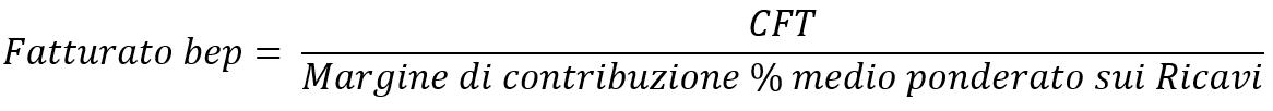 Formula-fatturato-di-pareggio-multiprodotto-5-semplice-MaurizioBianco